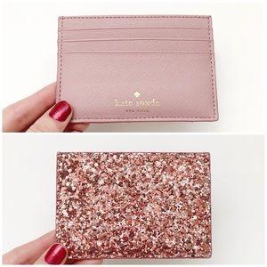 Kate Spade Pink Glitter Graham Greta Court Wallet
